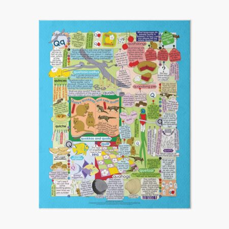 The Seventeenth Letter of the Alphabet: Q or q Art Board Print