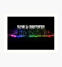 Band of Brothers - Glow Movie Poster Art Print