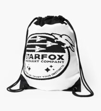 Star Fox Mercenary Patch Drawstring Bag