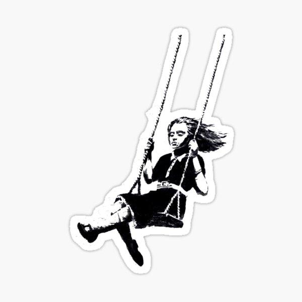 Girl on Swing Sticker