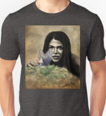 Octavia and the Butterfly (half color) Unisex T-Shirt