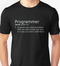 Programmer definition white T-Shirt