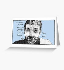 Thinking There Are Rules  Greeting Card