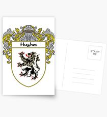 Hughes Coat of Arms/Family Crest Postcards