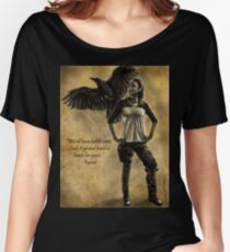 Raven Stay Strong 2 Women's Relaxed Fit T-Shirt