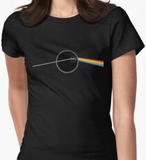 Dark Side Of Thats No Moon Womens Fitted T-Shirt