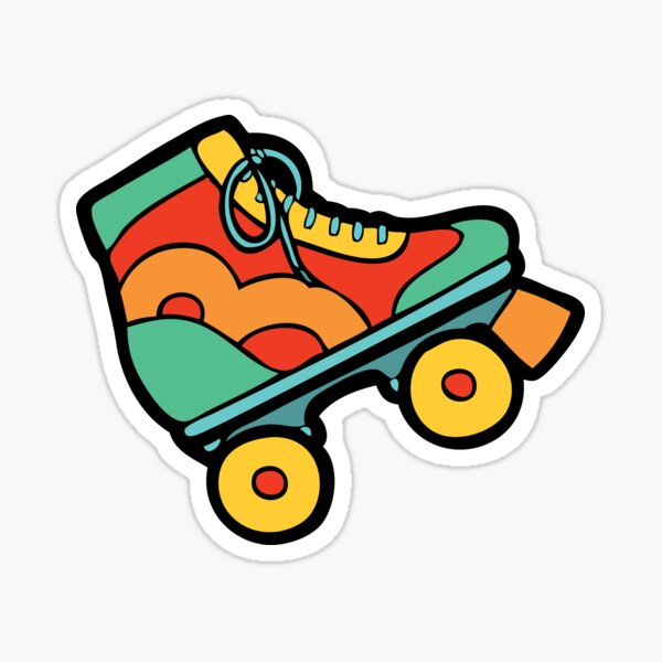 Get your skates on! Sticker