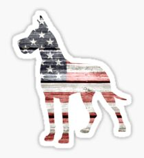Patriotic Great Dane Sticker
