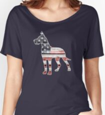 Patriotic Great Dane Women's Relaxed Fit T-Shirt