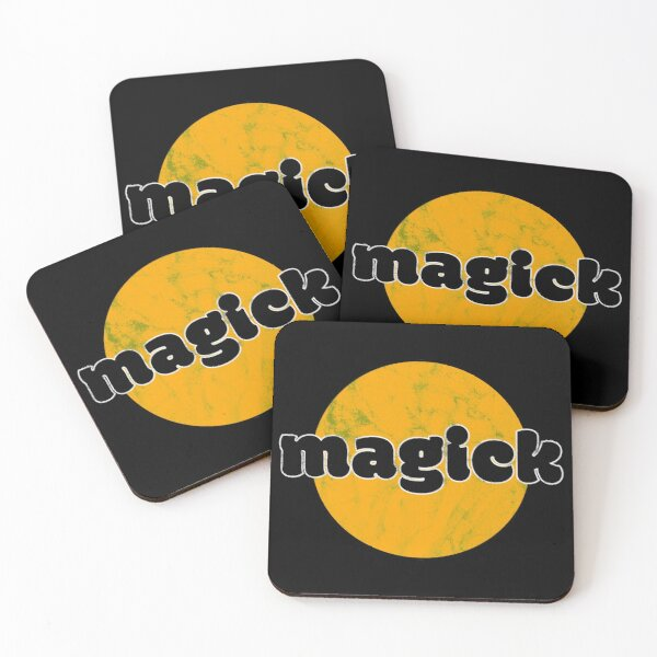 Magick Distressed Coasters (Set of 4)