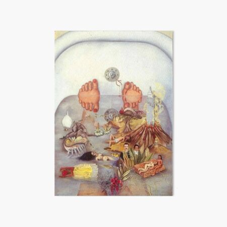 What the Water Gave Me by Frida Kahlo Art Board Print