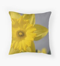 daffodil in the spring Throw Pillow