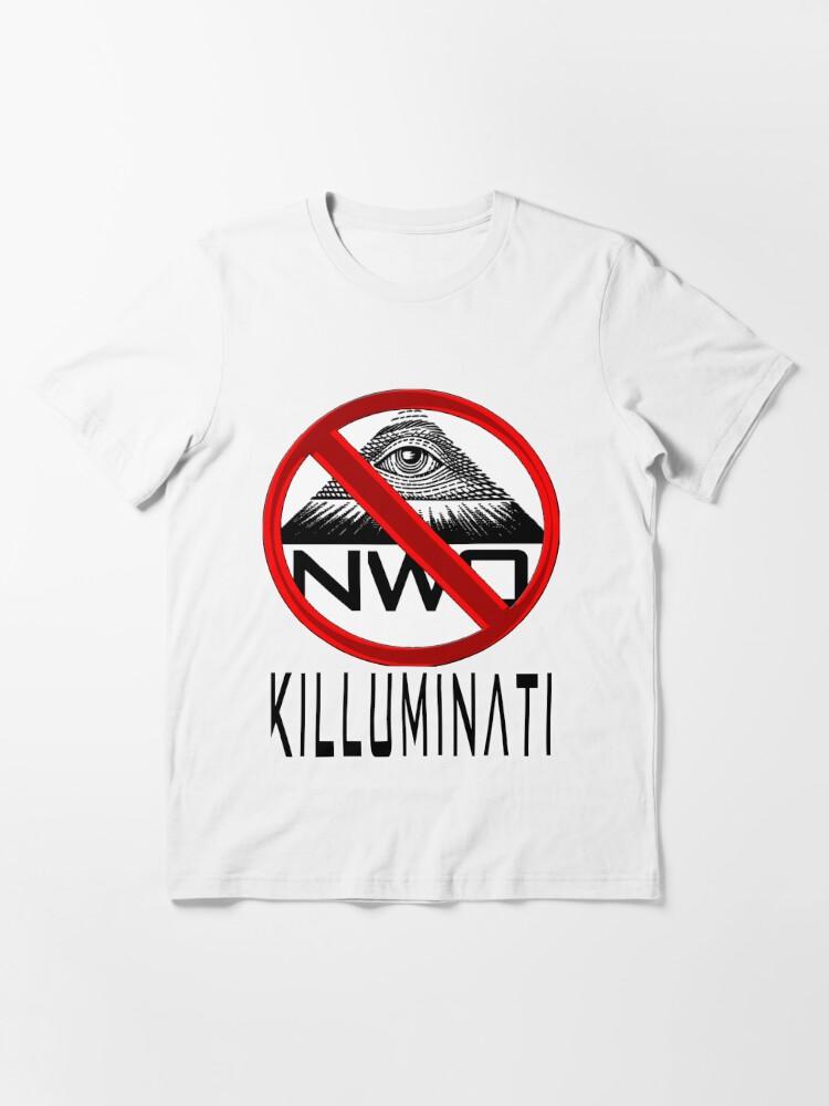 Alternate view of Killuminati - Anti Illuminati / New World Order Essential T-Shirt
