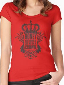 In A Crown - Deluxe Edition Women's Fitted Scoop T-Shirt