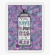 Hairspray Dream Zentangle Sticker