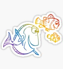 Rainbow Nemo Sticker
