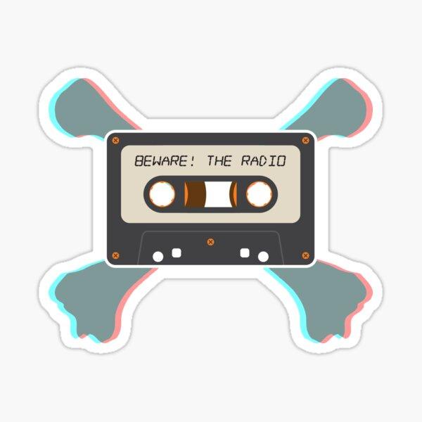 Beware! The Radio • 3D TAPE AND CROSSBONES Sticker