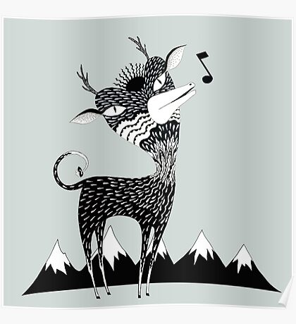 Singing Deer of the Shaggy Mountains Poster
