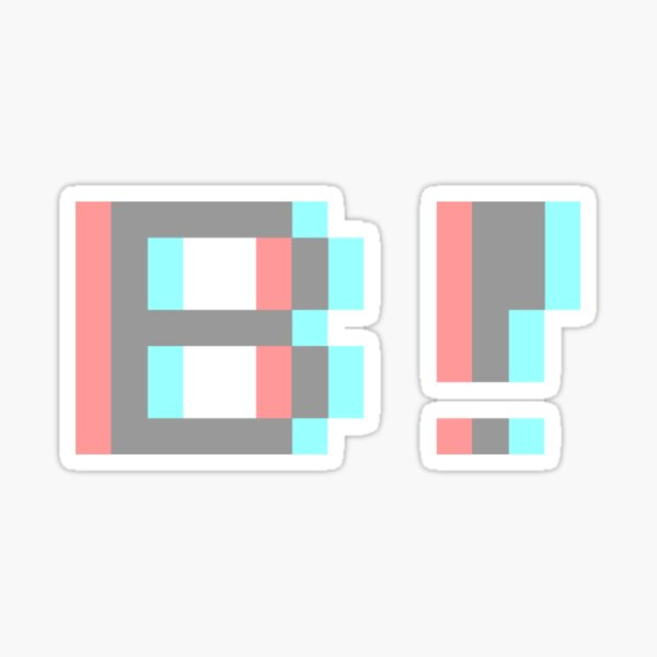 Beware! The Radio • B! 3D Sticker