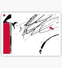 Red Splash Sticker