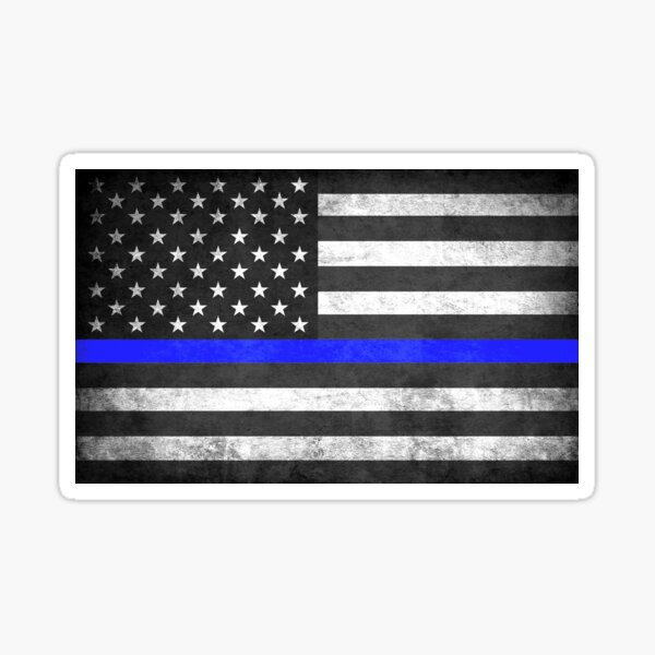 Thin blue line Punisher Police Blue Lives Matter American Flag  Decal Sticker