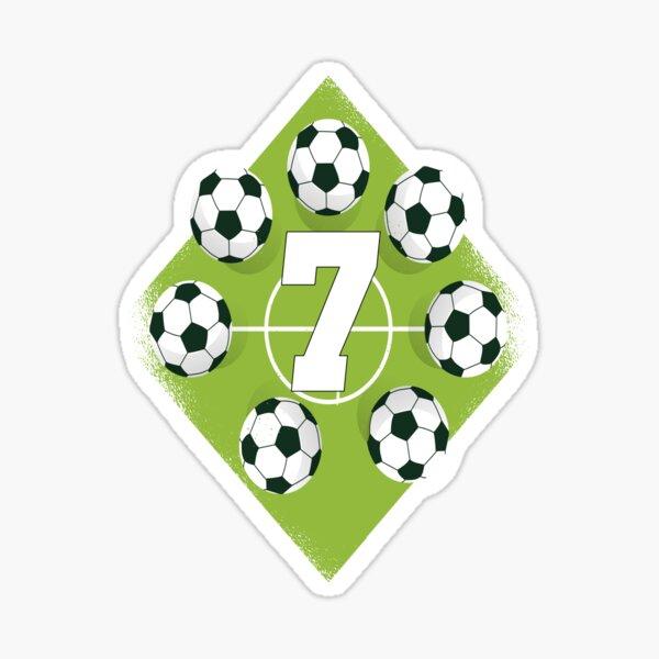 7th birthday boy soccer 7 years old Sticker
