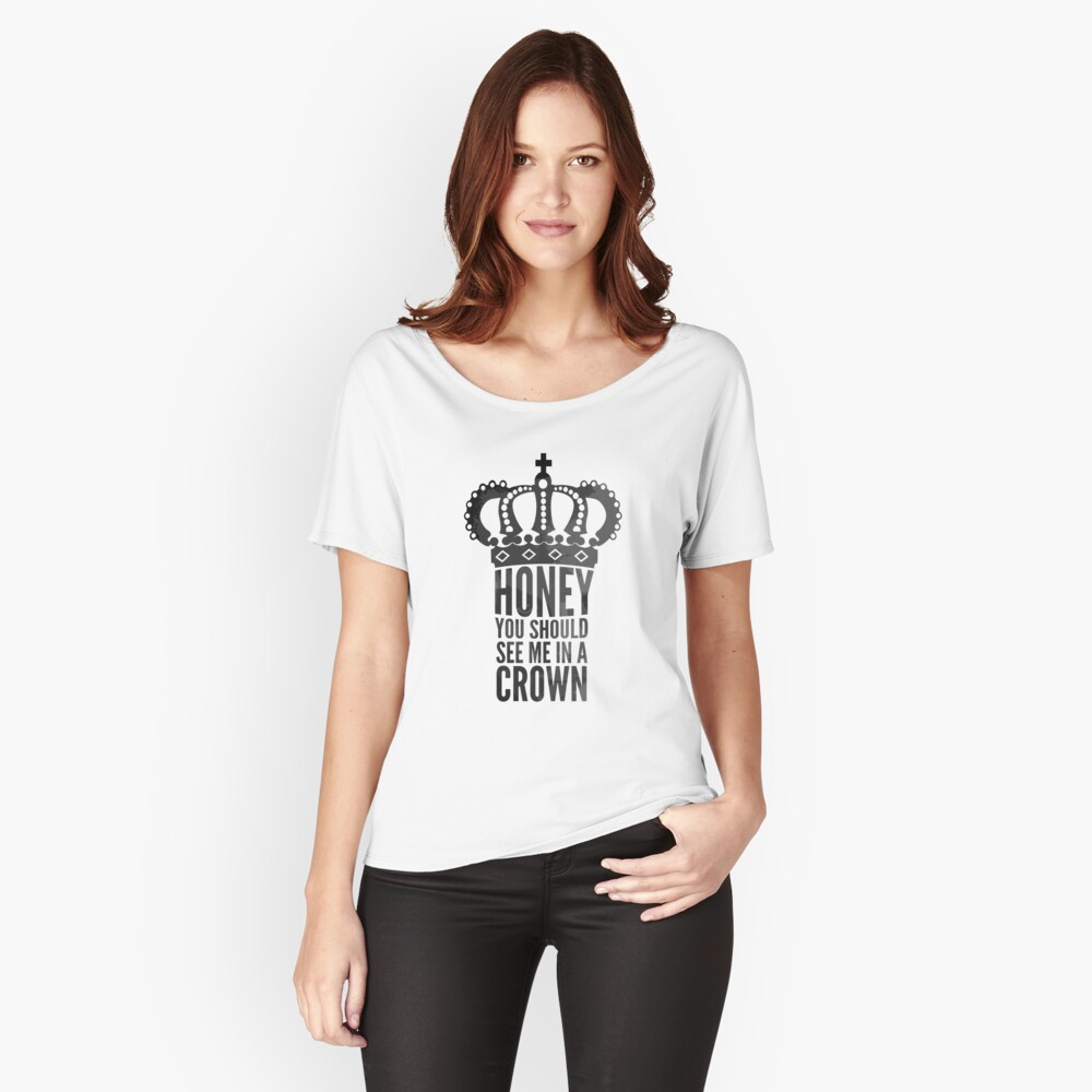In A Crown Women's Relaxed Fit T-Shirt Front