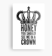 In A Crown Metal Print