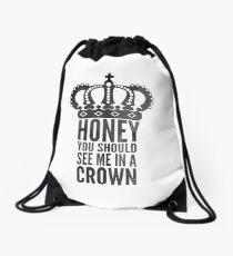 In A Crown Drawstring Bag