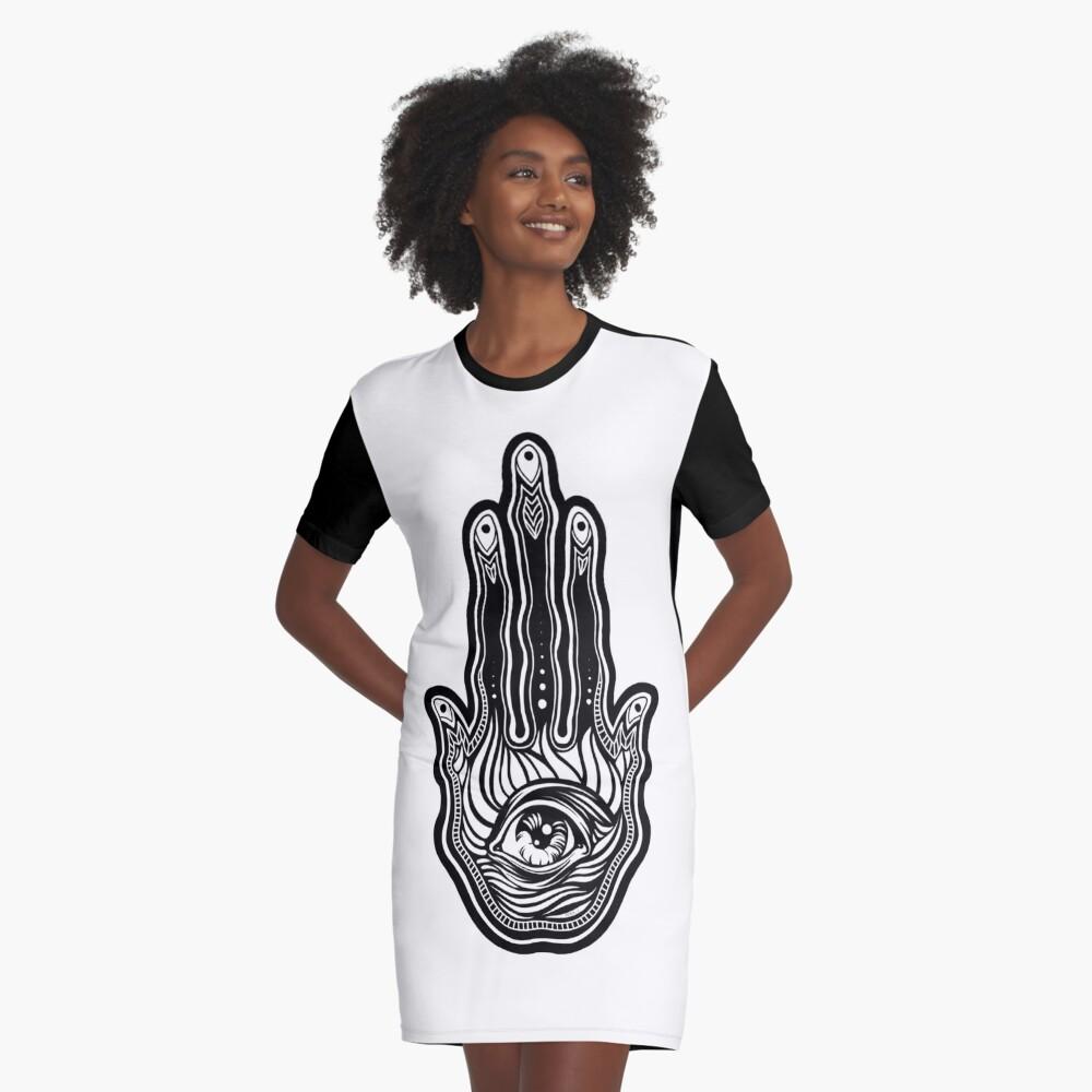 Hand of Fatima Graphic T-Shirt Dress