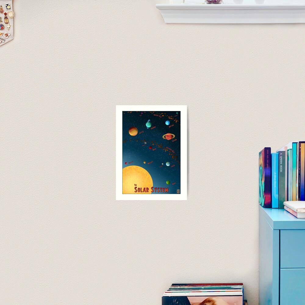 Retro Solar System Silver Age Poster Art Print