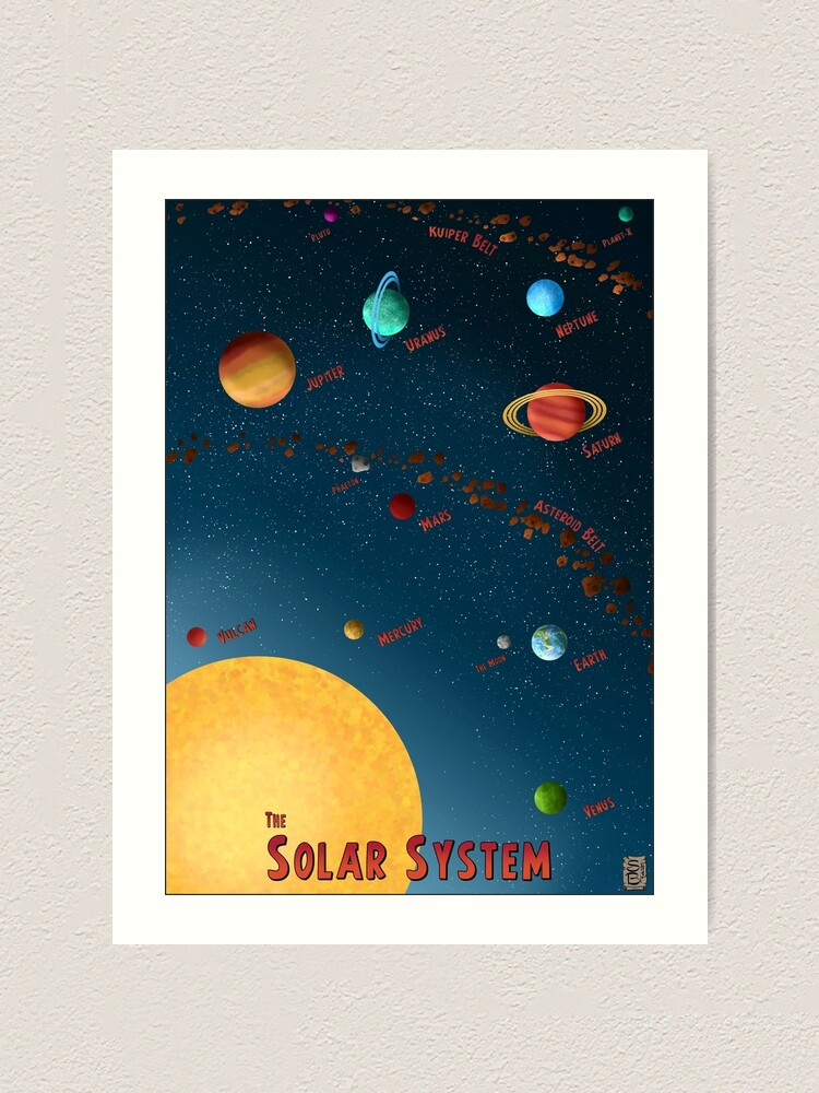 Alternate view of Retro Solar System Silver Age Poster Art Print