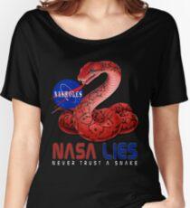 NASA Lies - Never Trust a Snake Women's Relaxed Fit T-Shirt