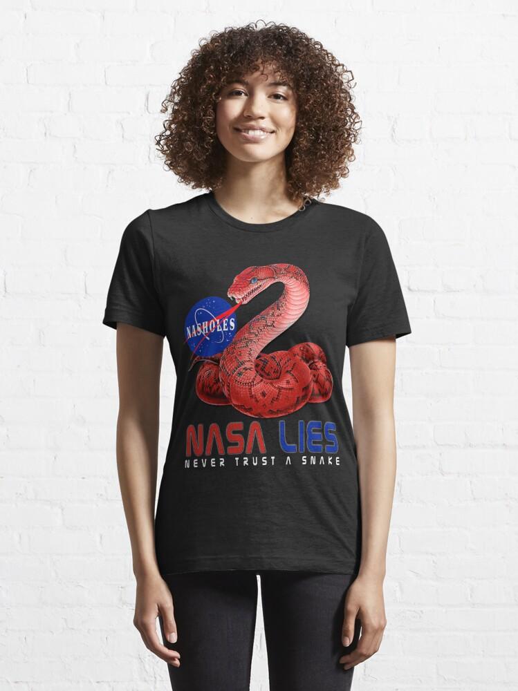 Alternate view of NASA Lies - Never Trust a Snake Essential T-Shirt