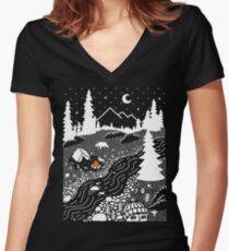 Unwelcome Guest Women's Fitted V-Neck T-Shirt