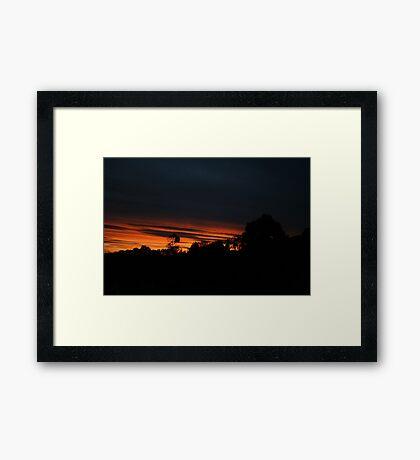 Days End - Sunset Framed Print