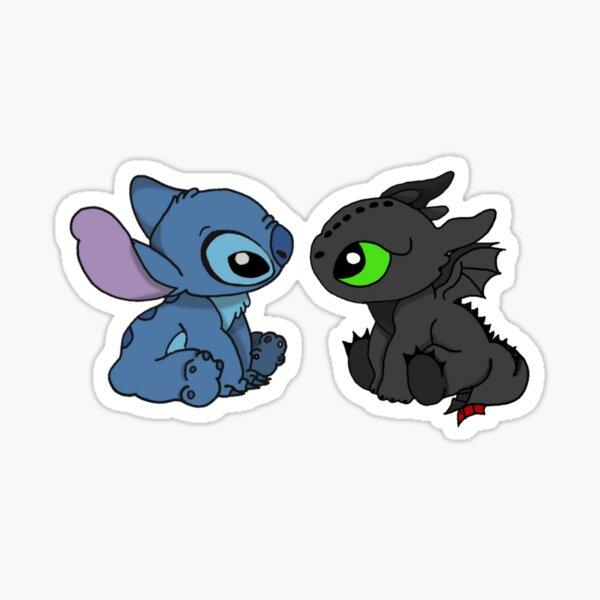Krokmou et Stitch Sticker