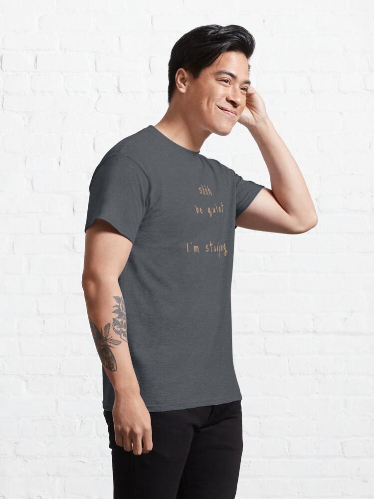 Alternate view of shhh be quiet I'm studying v1 - ORANGE font Classic T-Shirt