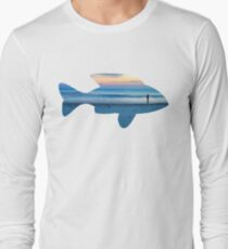 Fish & Seascape Fisherman Silhouette  T-Shirt