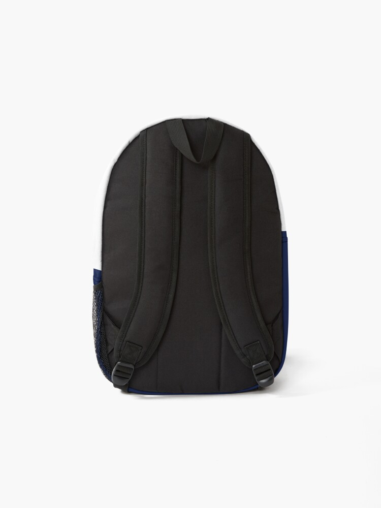 Alternate view of shhh be quiet I'm thinking v1 - HOT PINK font Backpack