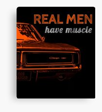 Real Men Have Muscle Canvas Print