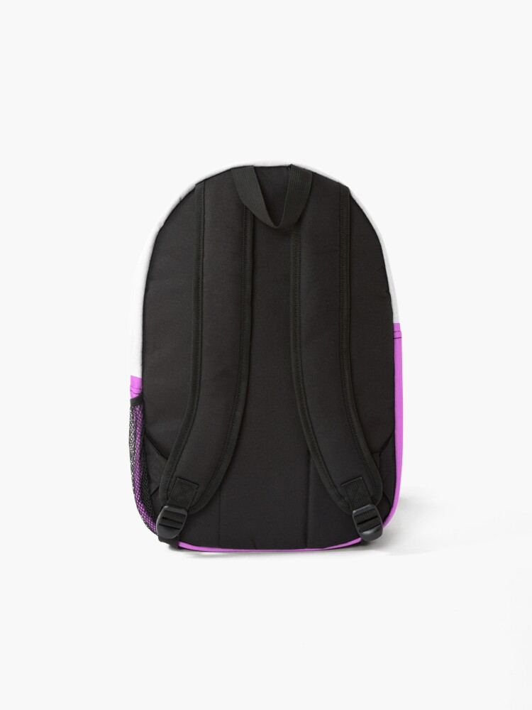 Alternate view of shhh be quiet I'm thinking v1 - LIGHT BLUE font Backpack