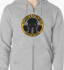 Know No Fear (large badge) Zipped Hoodie