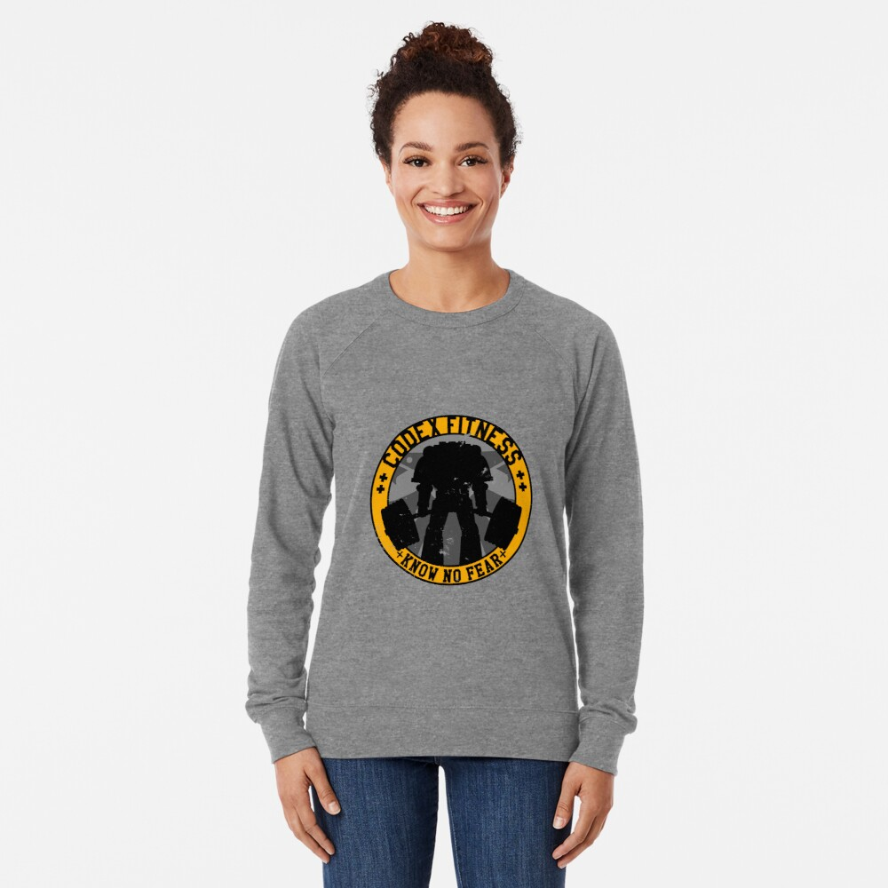 Know No Fear (large badge) Lightweight Sweatshirt