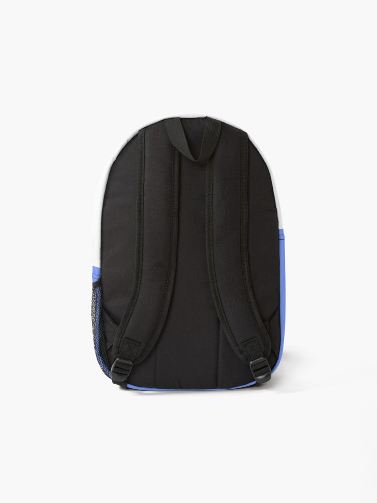 Alternate view of shhh be quiet I'm thinking v1 - PINK font Backpack