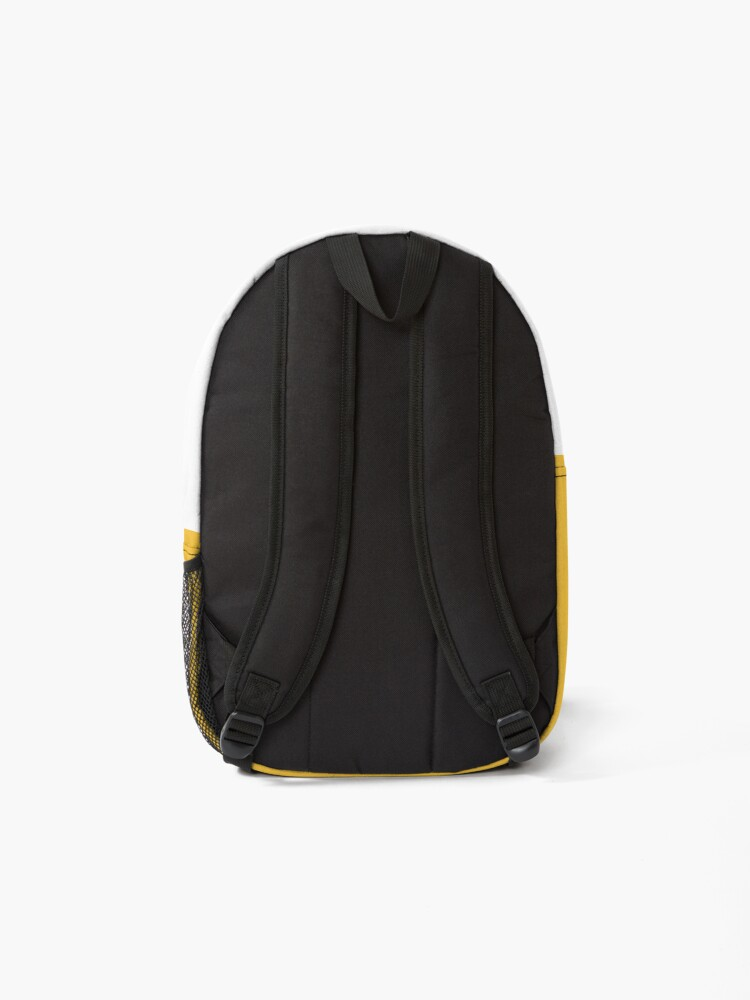 Alternate view of shhh be quiet I'm thinking v1 - PURPLE font Backpack