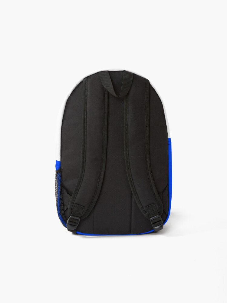 Alternate view of shhh be quiet I'm thinking v1 - YELLOW font Backpack