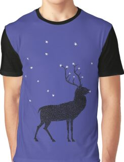Stag grazing on the stars Graphic T-Shirt