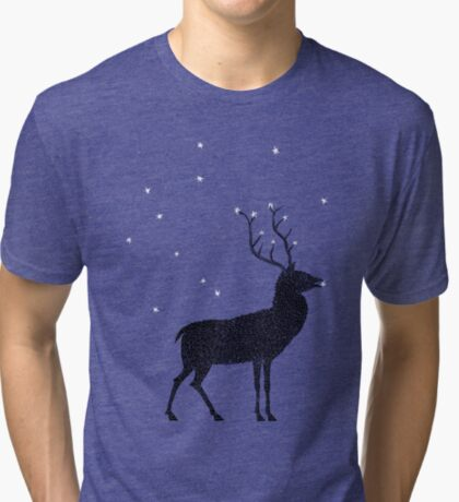 Stag grazing on the stars Tri-blend T-Shirt