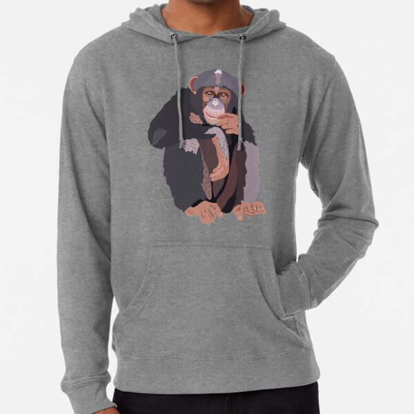 C is for Chimp  Lightweight Hoodie
